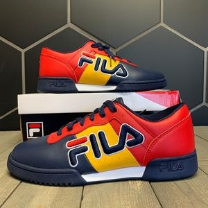 Fila Shoes - Mens Fila Original Fitness Retro Red Yello Sneaker